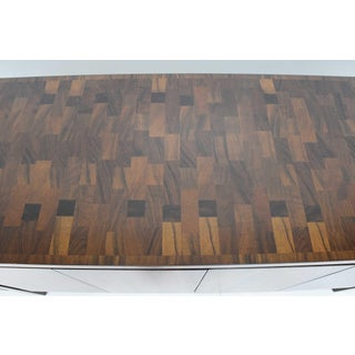 Widdicomb Credenza or Sideboard in Walnut With Parquet Patterned Top Preview