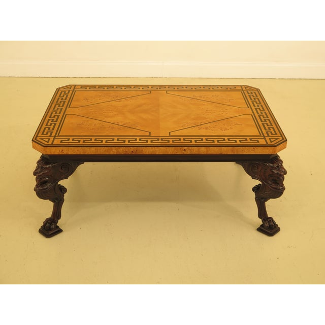 Baker Stately Homes Russian Empire Lion Head Coffee Table For Sale - Image 13 of 13