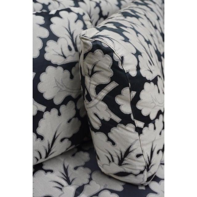 2000 - 2009 Armani Casa Silk Fig Leaf Tuxedo Sofa For Sale - Image 5 of 10