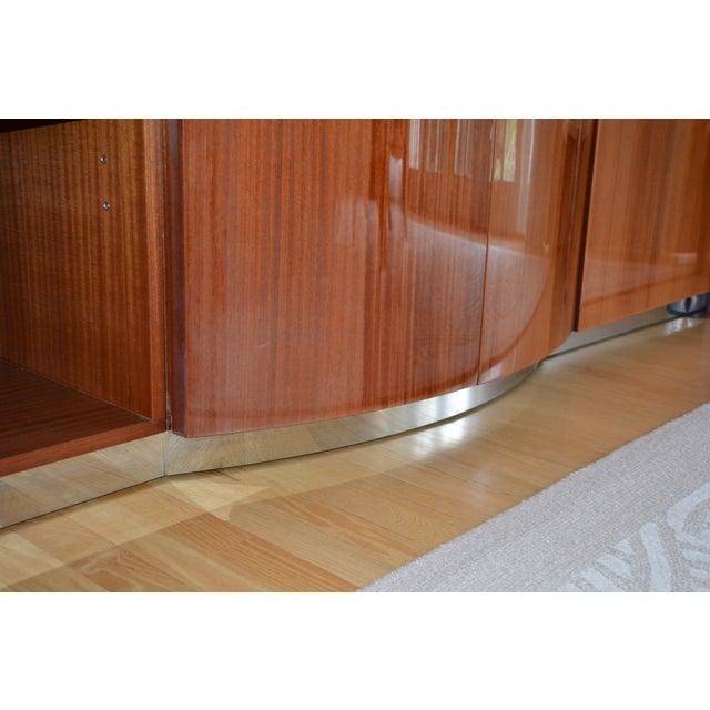 Red Dakota Jackson Custom Heraldic Bowfront Cabinet For Sale - Image 8 of 11