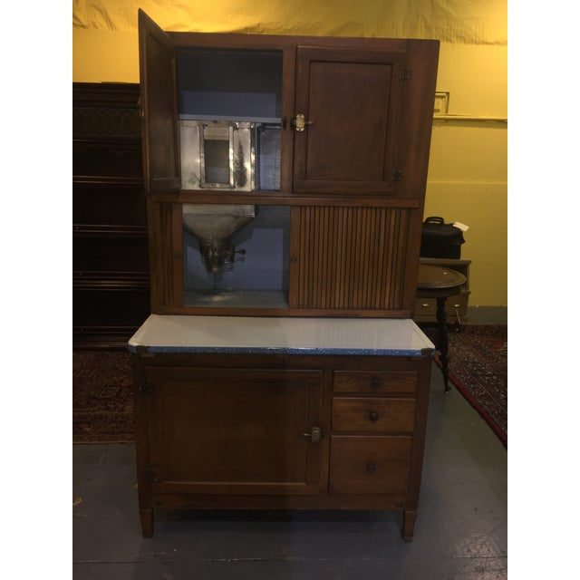 Hoosier Kitchen Cabinet: Antique Kitchen Hoosier Cabinet Cupboard