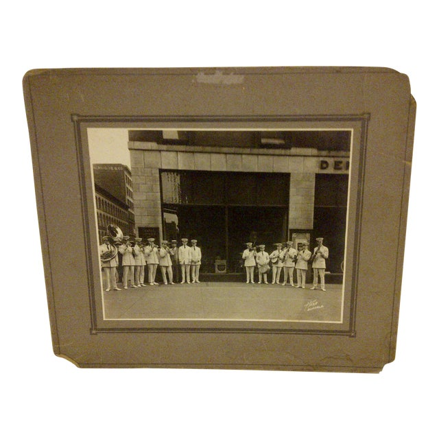 "Vintage ""S.S. Leviathan Steamship Liner Band"" Photograph For Sale"