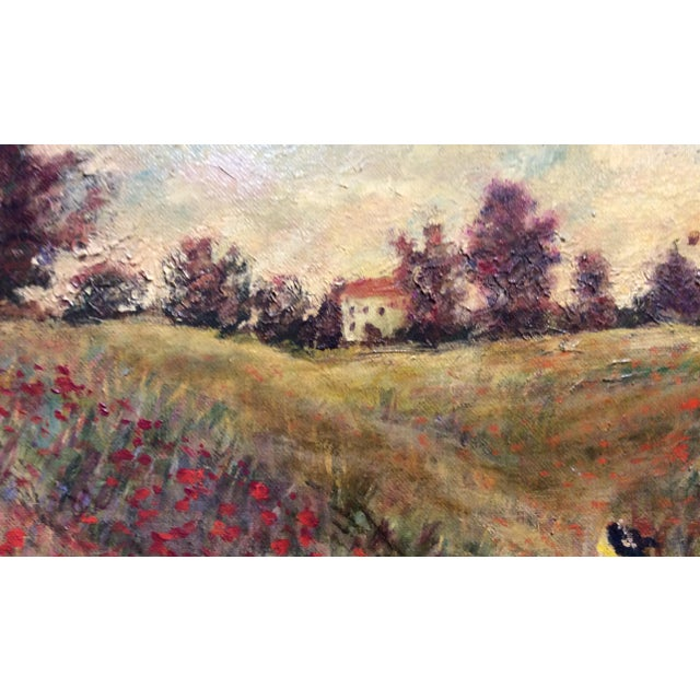 Paint Antique Framed Impressionism Signed Painting For Sale - Image 7 of 11