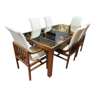 Vintage Mid Century Modern Henredon Ralph Lauren Dining Set - 7 Pieces For Sale