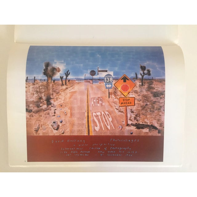 """This rare first edition vintage 1987 extra large format collector's softcover art book titled """" Hockney Posters """" is an..."""