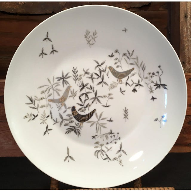 Ceramic 1960s Vintage Raymond Loewy for Rosenthal Birds on Trees Porcelain Plate For Sale - Image 7 of 7