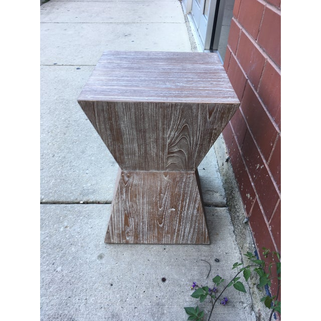 1970s 1970s Mid-Century Modern Cerused Oak Side Table For Sale - Image 5 of 6