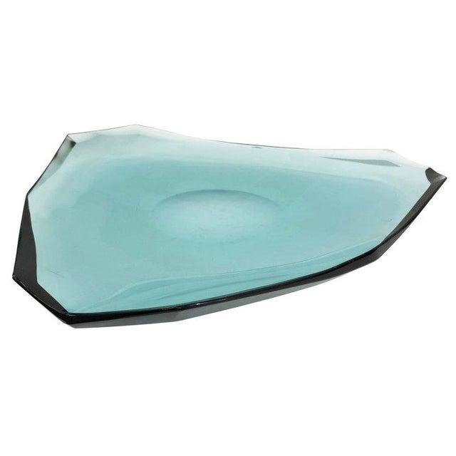 1960s 1960s Fontana Arte Glass Centerpiece, Italy For Sale - Image 5 of 6