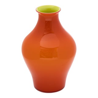Fortuny by Moretti Madrazo Medium Vase in Orange For Sale