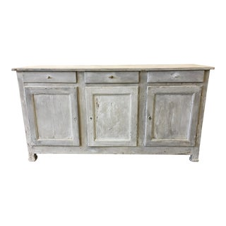 19th C French Antique Painted Enfilade Sideboard For Sale