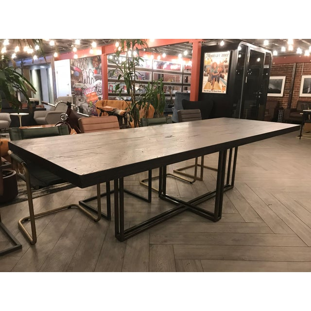 Large Rustic Oak Dining Table For Sale - Image 10 of 11