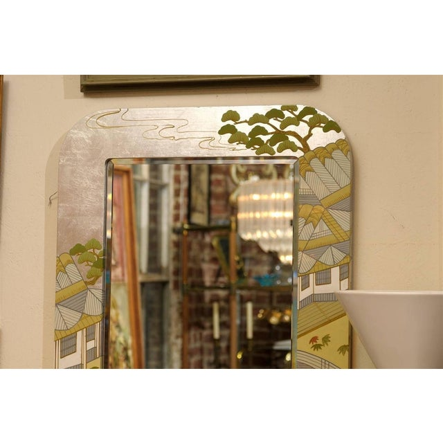 Regency Painted Silver Chinoiserie Mirror - Image 8 of 8