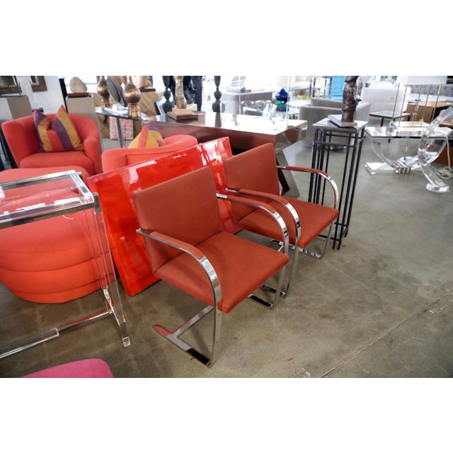 Metal Knoll Mies Van Der Rohe Brno Chairs Flat Bar Dated 1980 - a Pair For Sale - Image 7 of 10