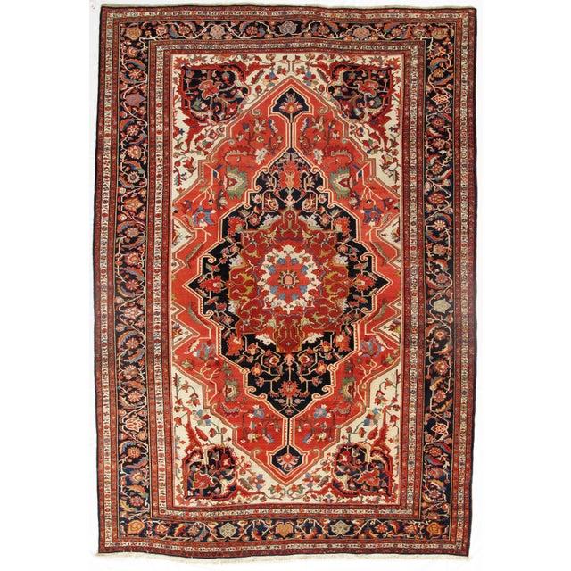 "Late 19th Century 19th Century Persian Sarouk Farahan Rug - 10'6"" X 15'3"" For Sale - Image 5 of 5"