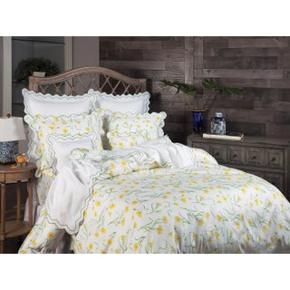 Blossoming Duvet Cover in Yellow in King For Sale