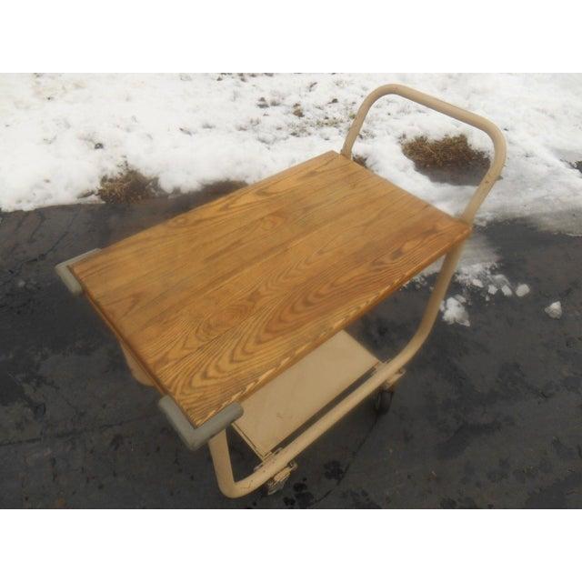 Vintage 1960s Industrial Rolling Bar Cart/Server - Image 5 of 5