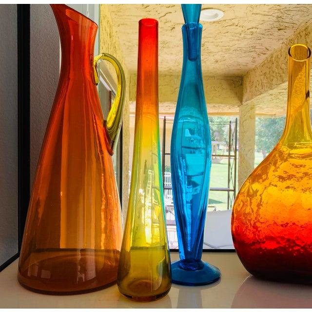 Blenko Glass Tangerine Vase 1959 Book Piece sandblasted etched Signature - Wayne Husted Designed by Wayne Husted BLENKO is...