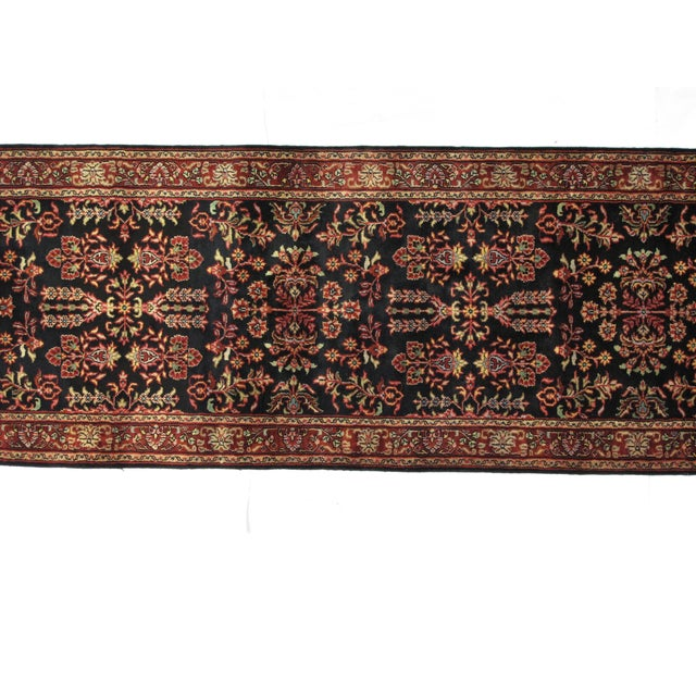 "Persian Sarouk Wool Runner Rug - 10'3"" x 2'7"" - Image 2 of 3"