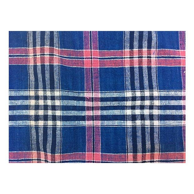 Handwoven Vintage Madras Christmas Tree Skirt - Image 6 of 6
