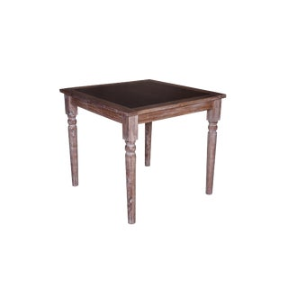 Javier Wooden Bar Table for Living Room, Table for Dining Room With Metal Sheet Top, Black Color For Sale