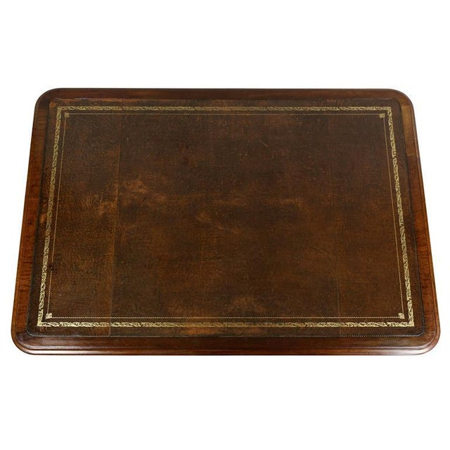 Traditional William IV Mahogany Writing Table or Desk For Sale - Image 3 of 10