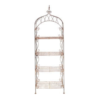 Vintage Iron Garden Shelf For Sale