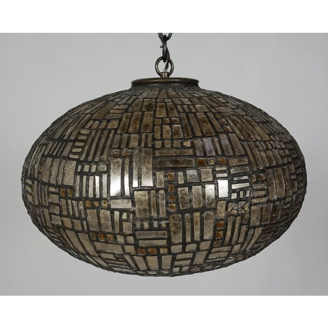 Contemporary Leaded Mica Hanging Sculpture Light by Adam Kurtzman For Sale - Image 3 of 10