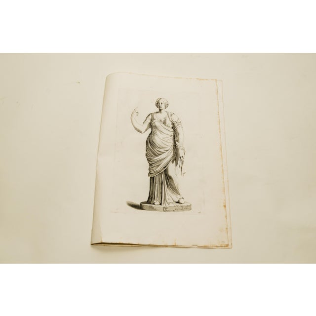 A vintage engraving after a classical statue composition from Vincenzo Giustiniani's Galleria Giustiniana del Marchese...