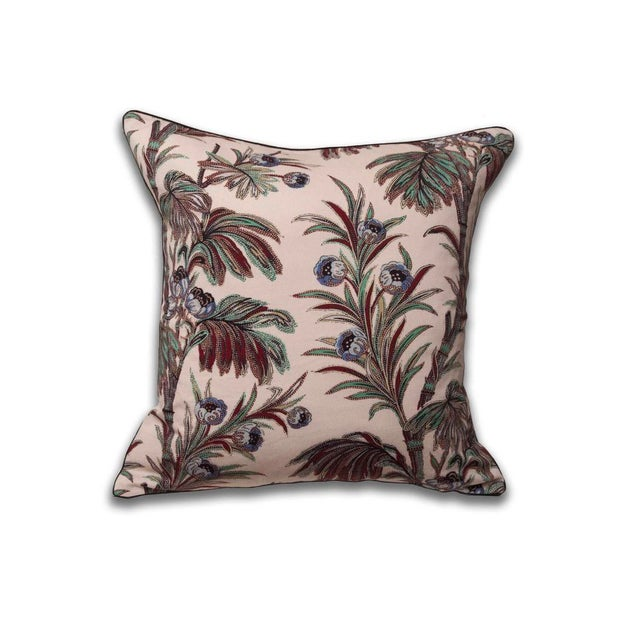 Boho Chic Indienne Floral Print Pillow For Sale - Image 4 of 4