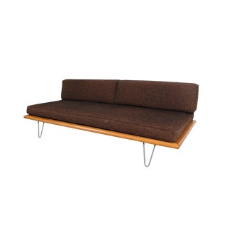 George Nelson Herman Miller Mid-Century Modern Brown Daybed For Sale