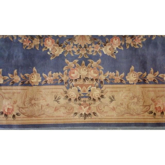 1930s Antique Chinese Art Deco Hand Made Rug- 9′ × 11′7″ - Image 3 of 8