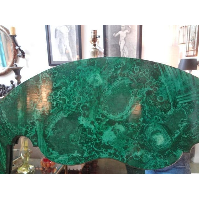 1960s 1960's Vintage Italian Faux Malachite Lacquered Mirror For Sale - Image 5 of 8