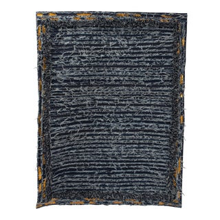 Hand Made Denim Rug by Oscar Ruiz Schmidt and Barbara Cuevas For Sale