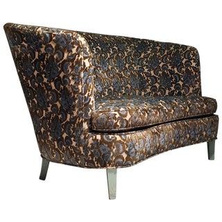 1940s Vintage Designer Loveseat High Back Sofa For Sale