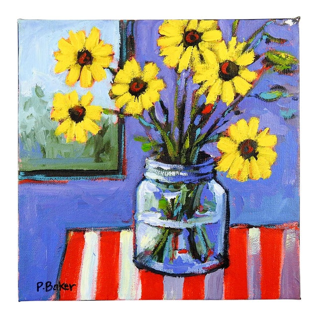 Yellow Daisies Stll Life Painting by Patty Baker For Sale