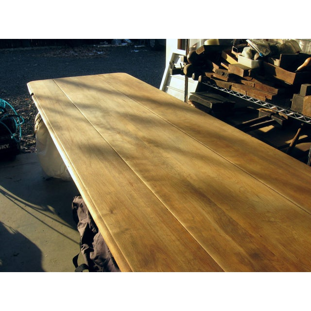 Grand Antique Farm Kitchen Table, 10' Length - Image 5 of 9