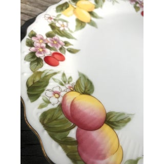 Painted Fruit Motif Torte Plate Preview