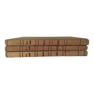1930s Vintage New York Times Giant Archive Books - Set of 3 For Sale