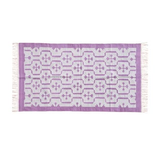 Meadowsweet Rug, 4x6, Purple & Light Gray For Sale