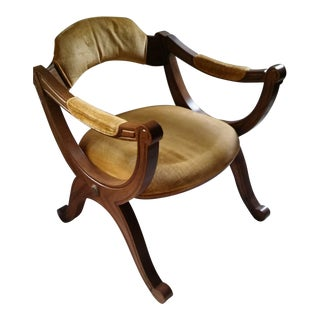 1960s Drexel Esperanto Wood X-Frame Chair