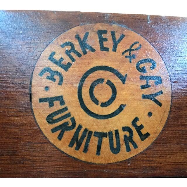 White Vintage Berkey & Gay Writing Desk For Sale - Image 8 of 11