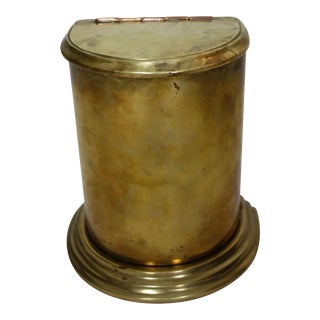 Brass Storage Canister For Sale