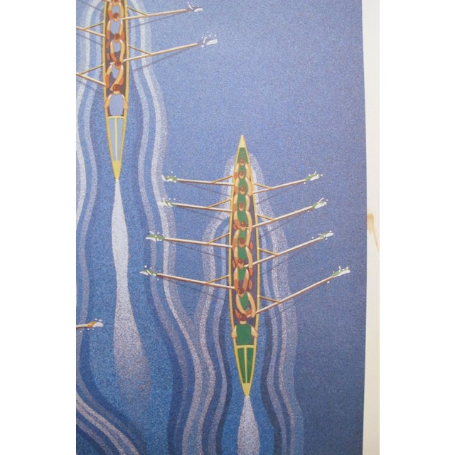 Contemporary Original 1980's Danish Design Poster, Carlsberg Rowers For Sale - Image 3 of 5