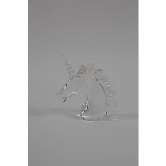 Marcolin Art Crystal Unicorn Sculpture For Sale - Image 4 of 7