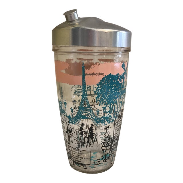 Mid-Century French Motif Cocktail Shaker - Image 1 of 7