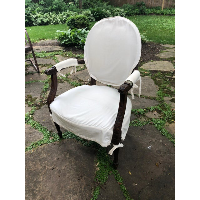 Carved Walnut and Upholstered French Armchair Bergere For Sale - Image 13 of 13