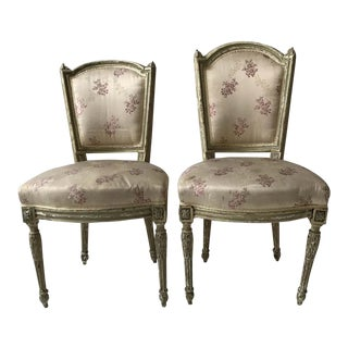 1870s French Louis XVI Side Chairs - a Pair For Sale