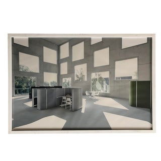 Vintage Wall Art Photography Scandinavian Office Interior For Sale