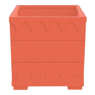 Ocean Drive Outdoor Planter Small, Orange For Sale