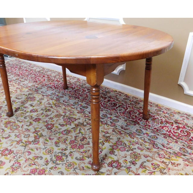 Orange Classic Colonial Style Knotty Pine Oval Dining Table For Sale - Image 8 of 10